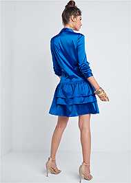 Alternate View Tiered Hem Shirt Dress