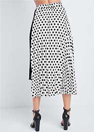 Waist down back view Polka Dot Pleated Skirt