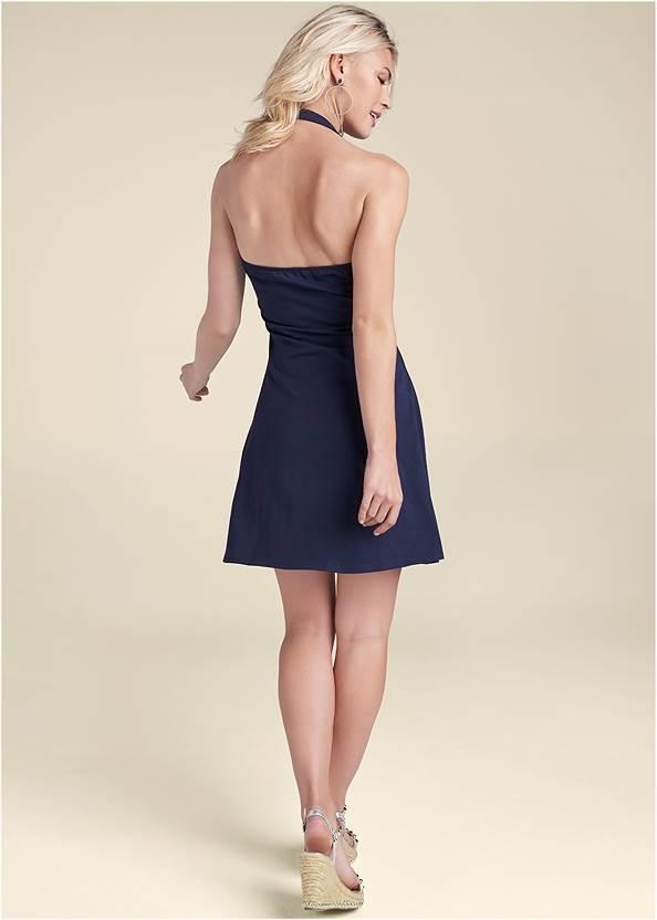 Front View Halter Neck Dress