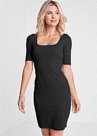 Cropped front view Long And Lean Dress
