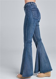 Waist down side view Flare Jeans