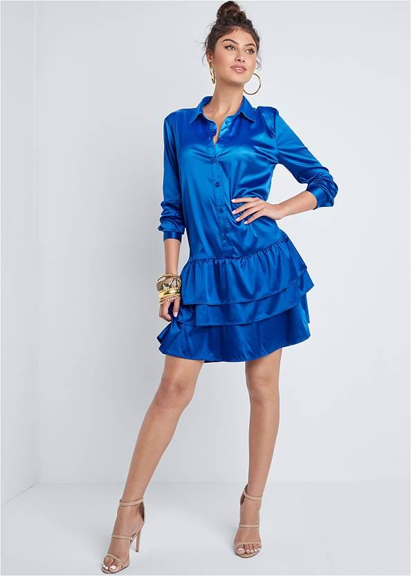 Alternate View Tiered Hem Shirt Dress