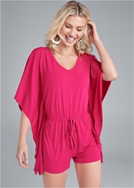 Cropped front view Kimono Sleeve Romper