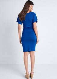 Full back view Ruched Casual Dress
