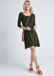 Full front view Casual Swing Dress