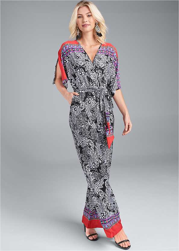 Paisley Print Jumpsuit,Push Up Bra Buy 2 For $40