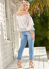Back View Off The Shoulder Lace Top