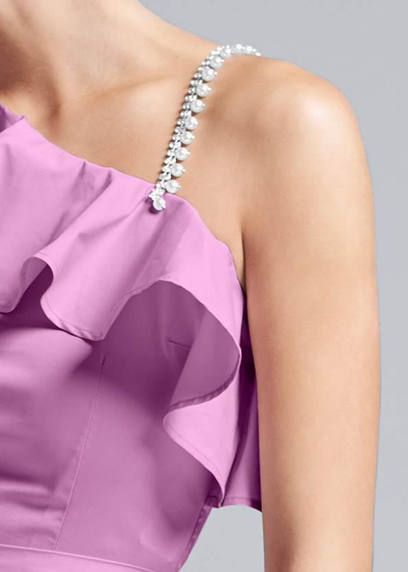 Alternate View One Shoulder Belted Blouse