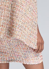 Detail back view Tweed Skirt Suiting Set