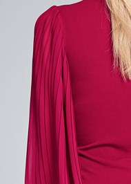 Detail back view Pleated Sleeve Top