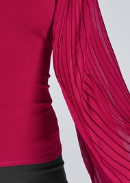 Alternate View Pleated Sleeve Top