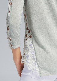 Detail back view Lace Sleeve Top
