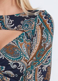 Alternate View Paisley Print Top