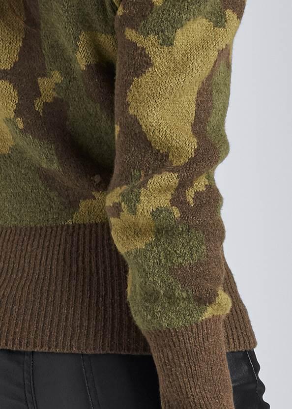 Alternate View Camo Print Puff Sleeve Sweater