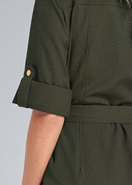 Detail back view Pocket Detail Utility Dress