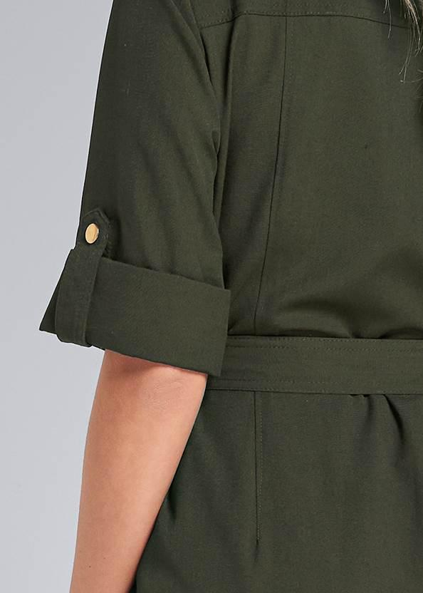 Detail back view Pocket Detail Utility Dress