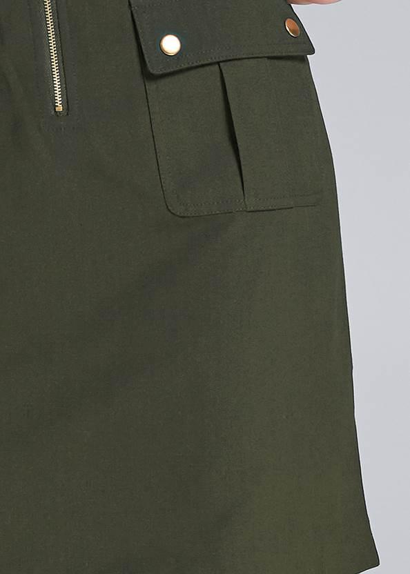 Detail front view Pocket Detail Utility Dress
