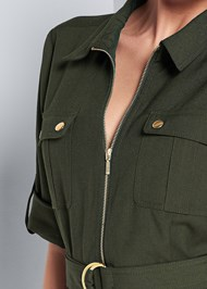 Alternate View Pocket Detail Utility Dress