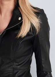 Alternate View Ponte And Faux Leather Jacket