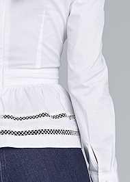 Detail back view Asymmetrical Blouse