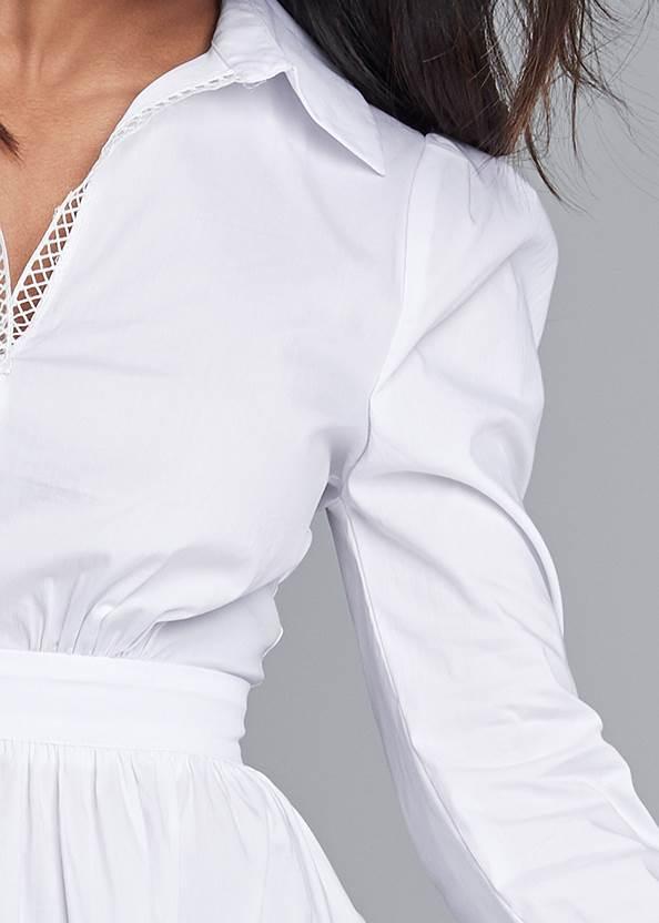 Detail front view Asymmetrical Blouse