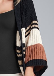 Detail front view Striped Chenille Duster