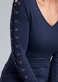 Alternate View Lace Up Sleeve Top