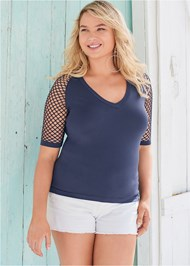 Cropped Front View Seamless Top