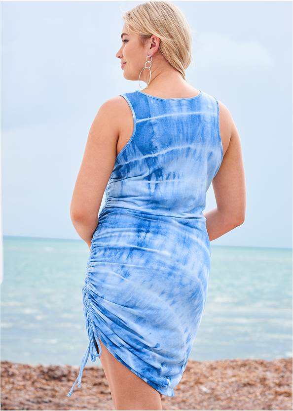 Back View Tie Dye Lounge Tank Dress