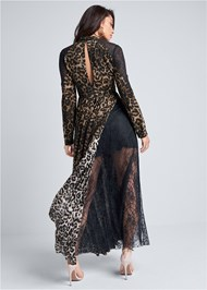 Alternate View Animal Print Lace Dress