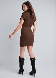 Full back view Turtleneck Sweater Dress