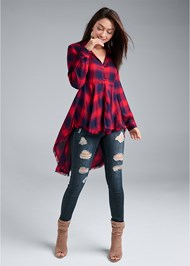 Alternate View Plaid High Low Top