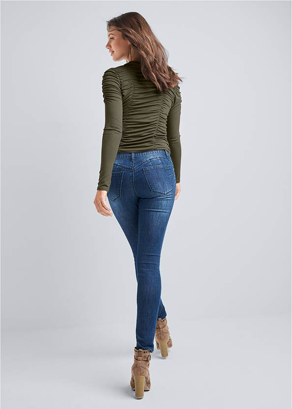 Back View Ruched Top
