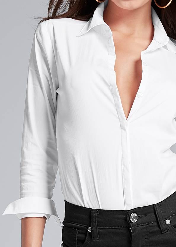 Alternate View Button Up Bodysuit