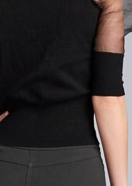 Alternate View Organza Puff Sleeve Sweater