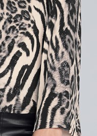 Alternate View Animal Print Top