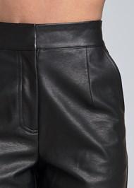 Detail front view Faux Leather Jogger Pants
