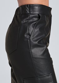 Alternate View Faux Leather Jogger Pants