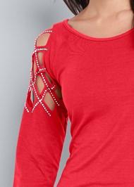 Alternate View Embellished Shoulder Top