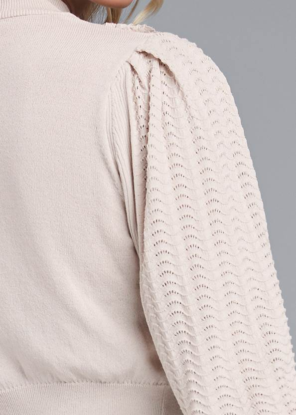 Detail back view Pointelle Detail Sweater