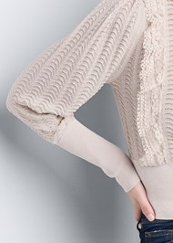 Detail front view Pointelle Detail Sweater