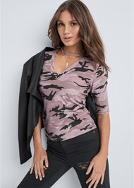 Front View Camo Top