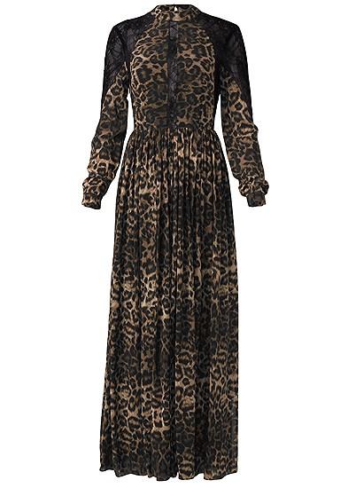 Plus Size Animal Print Lace Dress