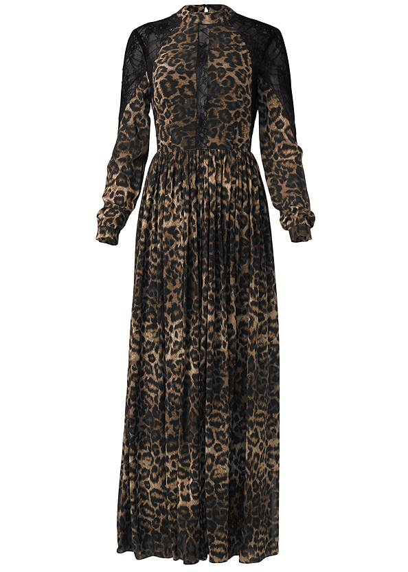 Ghost with background  view Animal Print Lace Dress