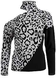 Alternate View Leopard Print One Shoulder Sweater