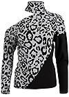 Alternate View Leopard Print One-Shoulder Sweater
