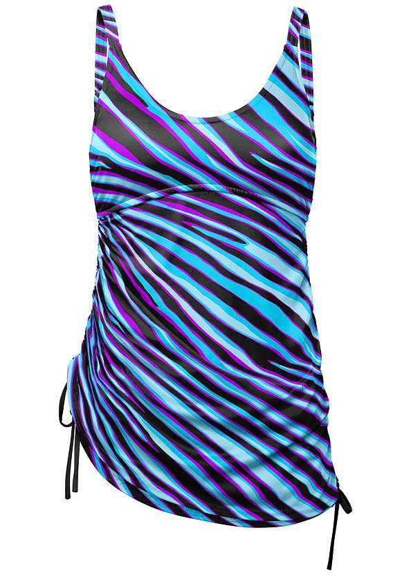 Ghost with background  view Adjustable Long Tankini Top