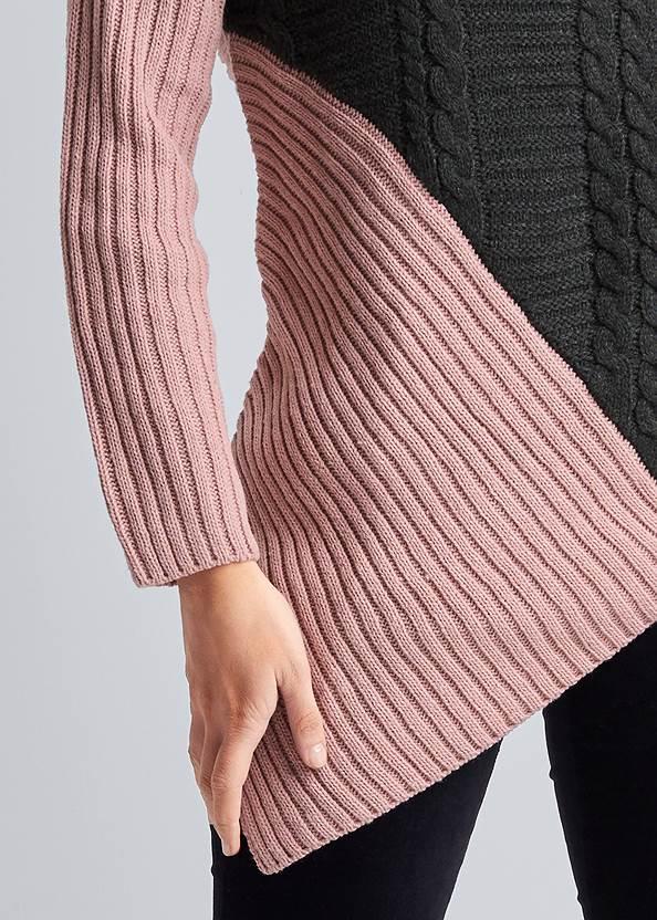 Alternate View Asymmetrical Color Block Sweater