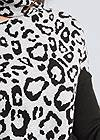 Detail front view Leopard Print One Shoulder Sweater