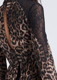 Detail back view Animal Print Lace Dress